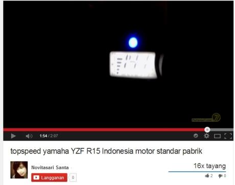 Top Speed Yamaha YZF-R15 tembus 141 km.jam di Yogyakarta