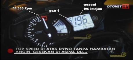 Tospeed Yamaha R25 tembus 196 KMjam diatas Dynotest