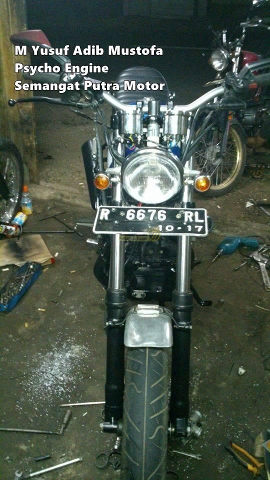 Modifkasi Yamaha Byson Dual Piston Psycho Engine By