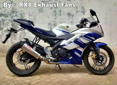 Yamaha R15 dengan knalpot RX8 New TriOval RC1 1