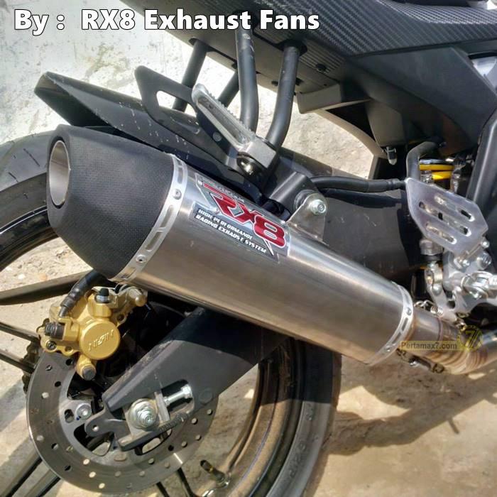 Yamaha R15 dengan knalpot RX8 New TriOval RC1 2