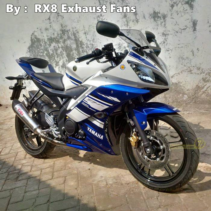 Yamaha R15 dengan knalpot RX8 New TriOval RC1 3