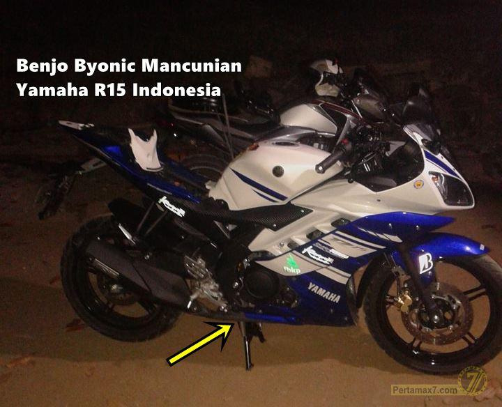 Yamaha R15 pakai standart tengah Vixion