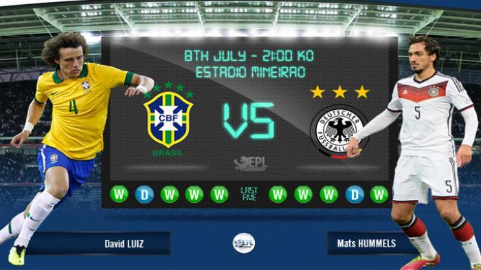 Brazil Vs Germany Piala Dunia 2014