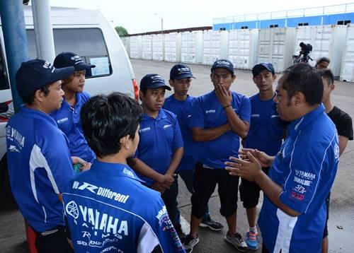 Briefing teknisi tim Yamaha Indonesia di Yamaha Riding Academy Step 2