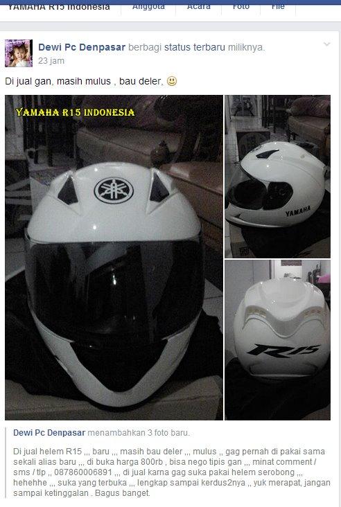 helm bawaan yamaha r15