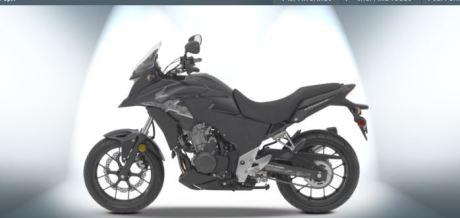 Honda CB500X hitam