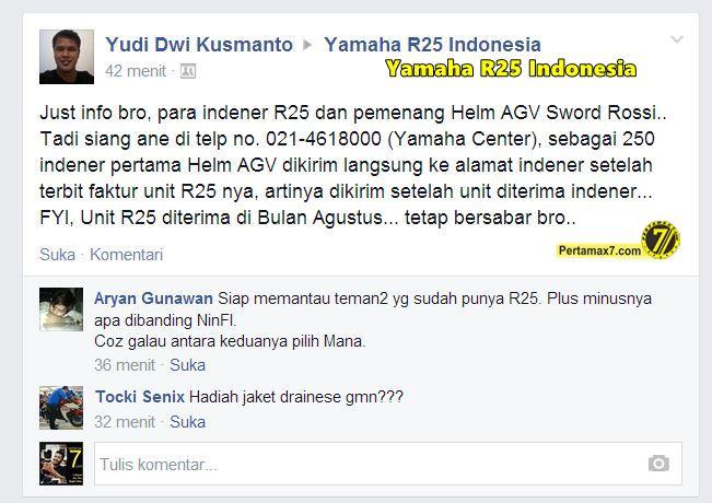 Indo Helm AGV Rossi hadiah Yamaha R25 1