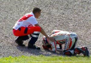 marquez crash on motogp germany 2014