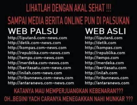 situs berita di palsu