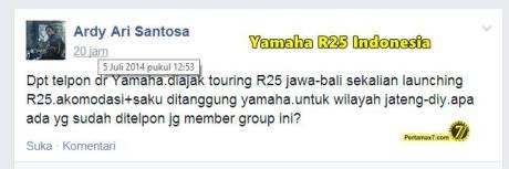Touring Yamaha R25 Jawa Bali grup