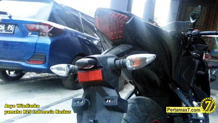Yamaha R25 pakai lampu sein Yamaha new Vixion Pertamax7.com  0