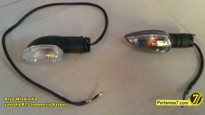 Yamaha R25 pakai lampu sein Yamaha new Vixion Pertamax7.com  3