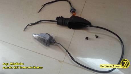 Yamaha R25 pakai lampu sein Yamaha new Vixion Pertamax7.com  5