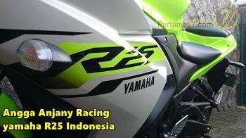 Yamaha YZF-R25 warna hijau stabilo 1