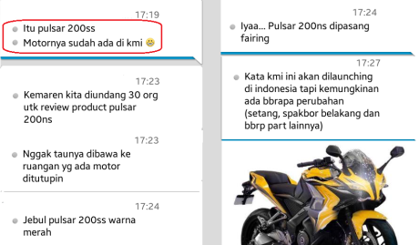 bajaj pulsar 200ss ke Indonesia