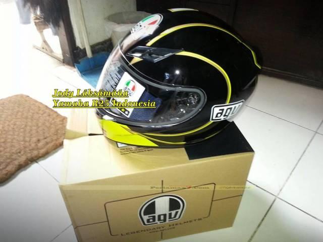 Helm AGV K3 Gotic Black Hadiah yamaha R25 0