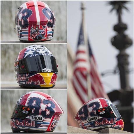 Helm Marc Marquez sambut motogp Indianapolis 2014 1