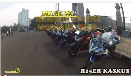 kawasaki Z1000 city tour yamaha R15 indonesia