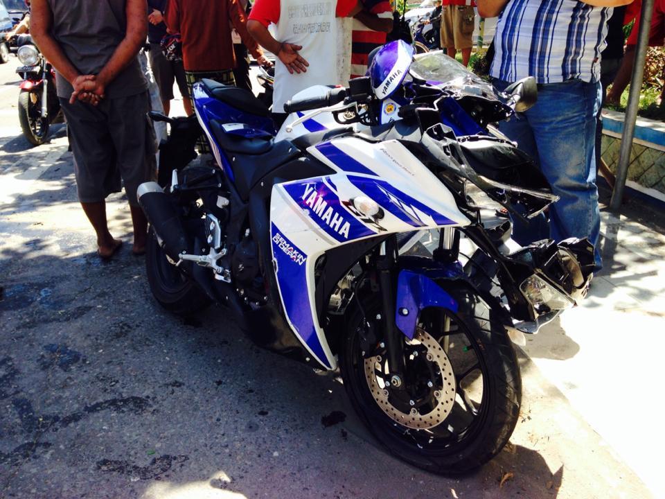 Adu Banteng Yamaha Vixion Vs Yamaha R25 Di Madiun Emane