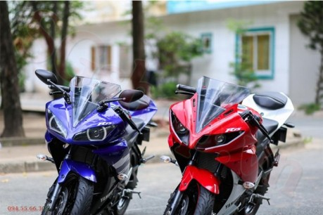 Modifikasi yamaha R15 pakai Projie ala Yamaha R1 pertamax7.com 11