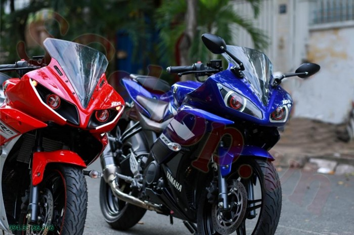 Modifikasi Yamaha R15 pakai Projie ala Yamaha YZF R1 dari