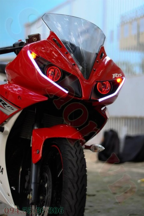 Modifikasi yamaha R15 pakai Projie ala Yamaha R1 pertamax7.com 5