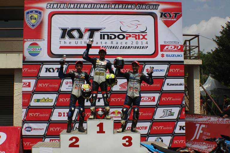 podium indoprix sport 150 race 1
