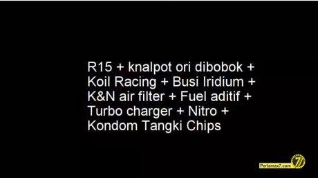 spesifikais yamaha R15 knalpot moge