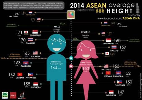 Tinggi Badan rata-rata Pria di Indonesia terpendek se-ASEAN