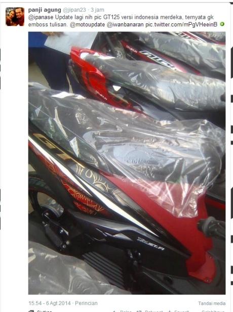 yamaha GT 125 versi Indonesia merdeka