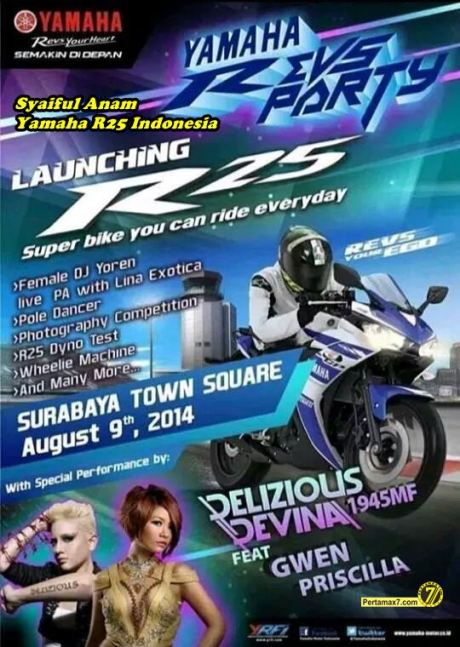 yamaha jatim Launching Yamaha R25 di surabaya townsquare