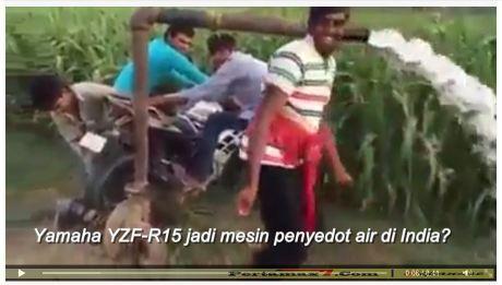 yamaha R15 jadi mesin penyedot air di india