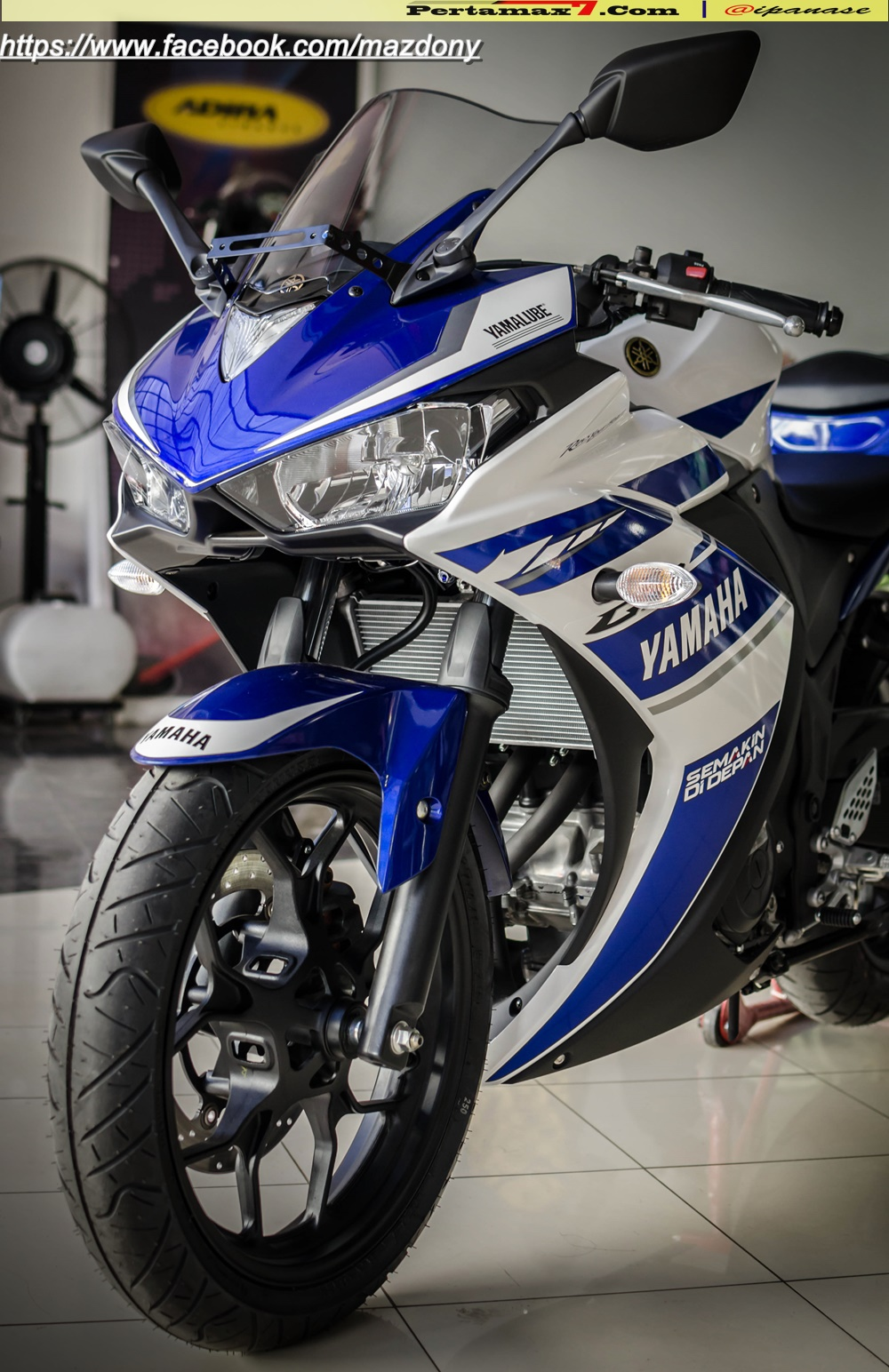 Yamaha YZF-R25 Blue pertamax7.com Indonesia 34