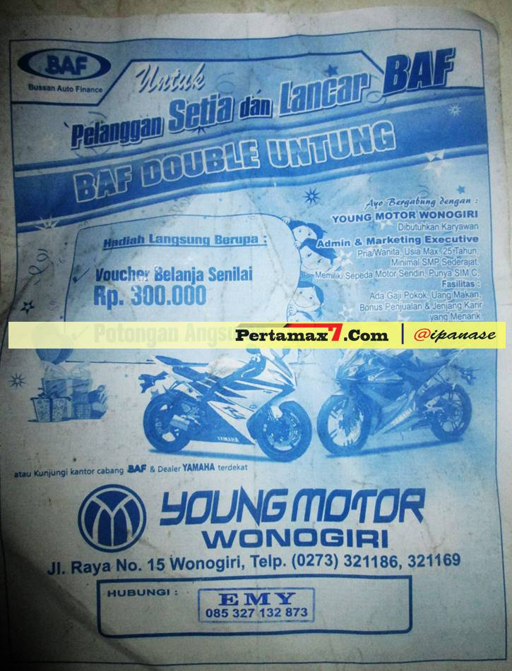 brosur yamaha R15 wonogiri