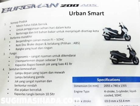 flyer suzuki burman 200 di Indonesia