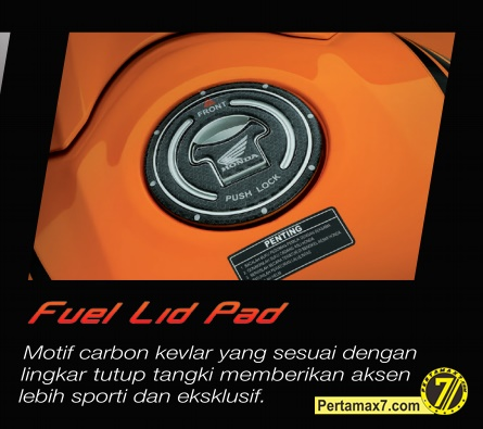 fuel lid pad honda CBR150R indonesia