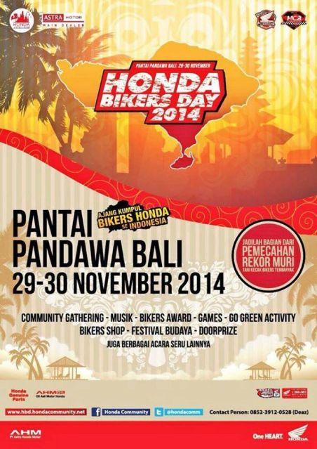 Honda BIkers Day 2014 di pulau Bali