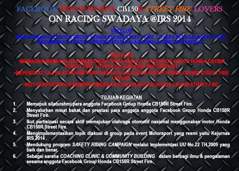 HONDA CB150R STREETFIRE LOVERS RACING SWADAYA ON IRS 2014 4