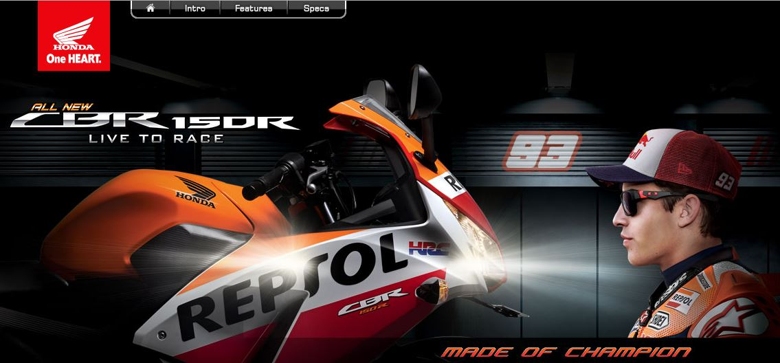 Honda CBR150R Indonesia with Marc Marquez 93