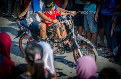 honda supra ban cacing dikasih pedal sepeda