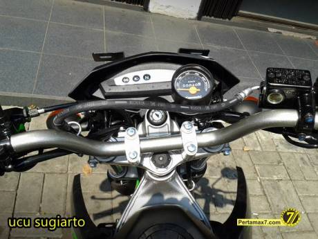 Kawasaki KLX150L jatuh stang bengkok segitiga rusak 12