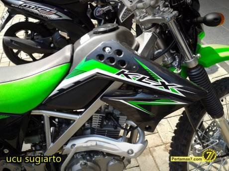 Kawasaki KLX150L jatuh stang bengkok segitiga rusak 9