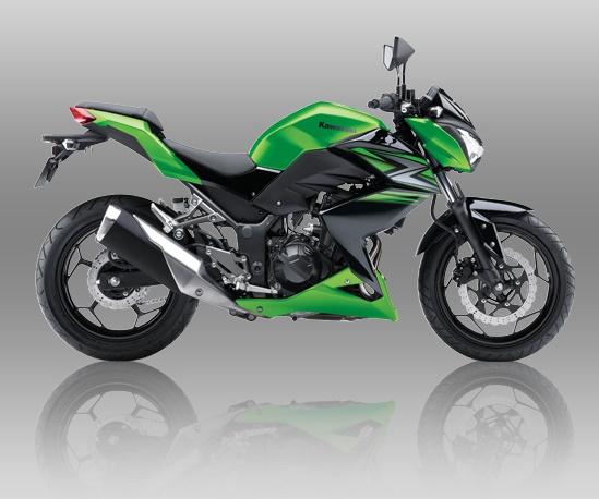 kawasaki Z250 warna hijau Indonesia