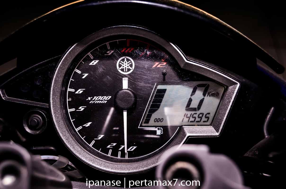 km speedometer new vixion buat Uji Oli Yamalube Super Sport Full Syntethic
