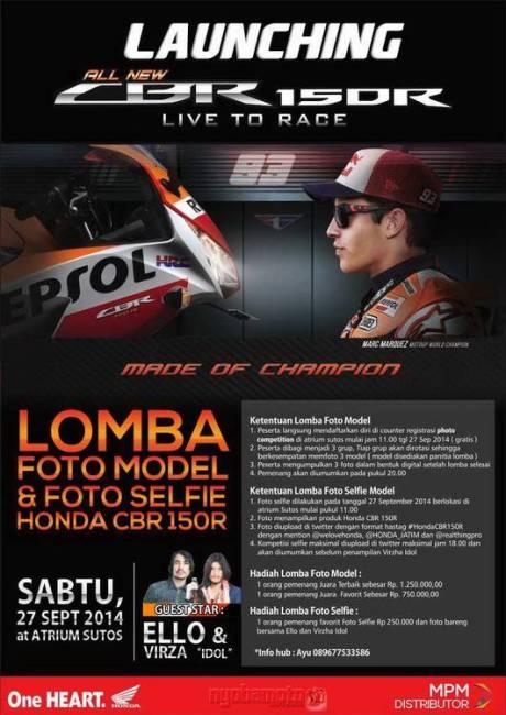 Launching Honda All New CBR150R Lokal Barengan Nih Di
