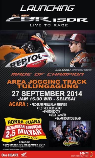 launching Honda CBR150R di Kediri Jawa Timur