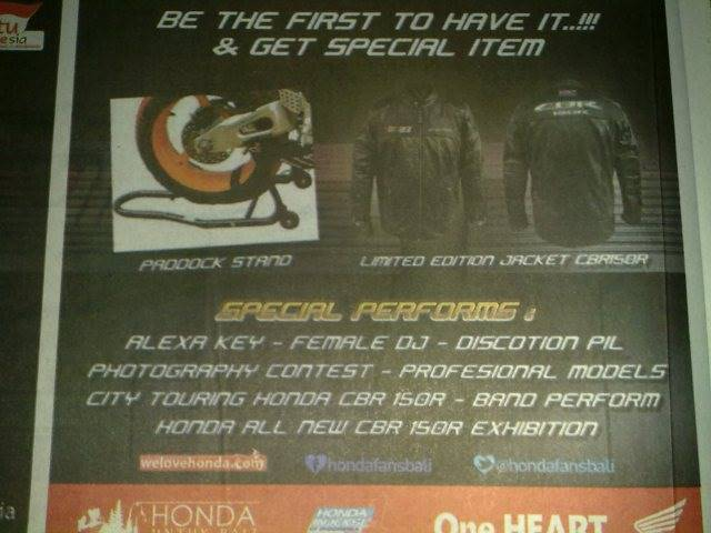 launching Honda CBR150R di Pulau bali