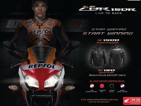 marquez with honda CBR150R Indonesia