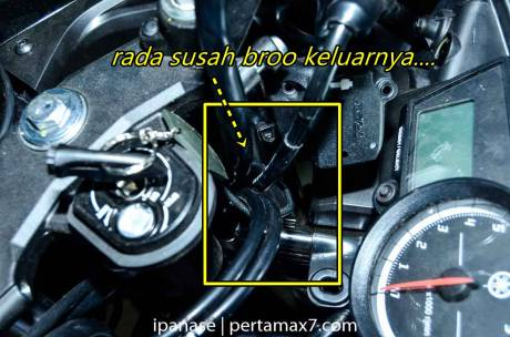 mematikan AHO Yamaha R15 dengan saklar Old Vixion 13